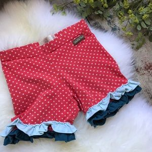 Matilda Jane Red Shorties Sz 6